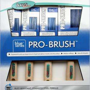 Axus Blue Series Pro Brush 4 piece Brush set