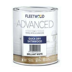 Fleetwood Advanced Quick Dry Satinwood Pure Brilliant White 2.5L
